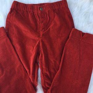 Brandy Melville red autumn corduroy pants
